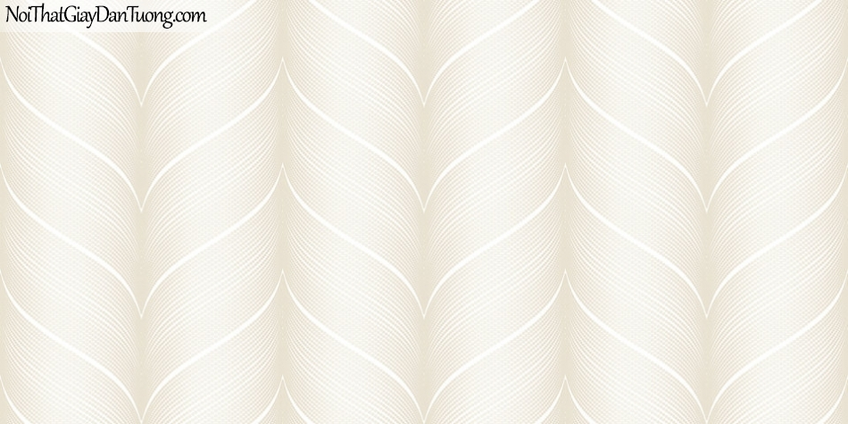 Giấy dán tường Hàn Quốc Hera H6035-1 - giấy dán tường sọc kem, sọc cách điệu