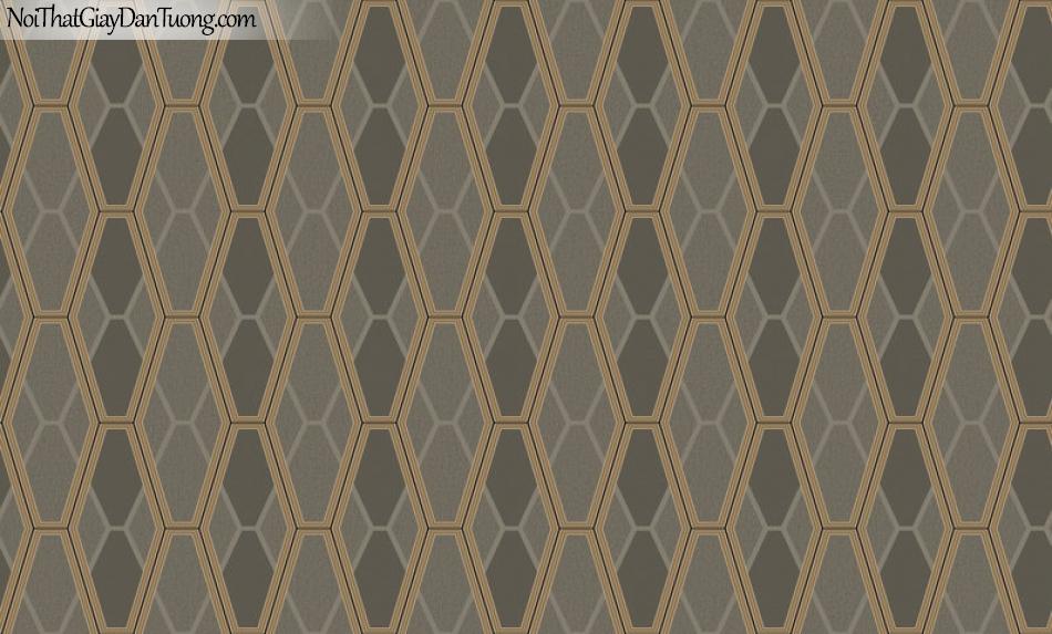 Giấy dán tường Hàn Quốc Hera H6045-3 - giấy dán tường lục giác, đa giác, màu tối