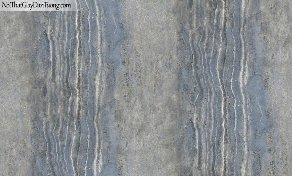 Giấy dán tường Hàn Quốc Hera H6047-2 - giấy dán tường giả đá, đá tảng, đá tấm lớn, đá xanh xám sậm