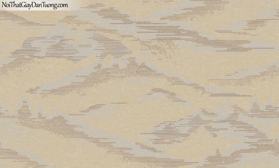 Giấy dán tường Hàn Quốc Hera H6050-2 - giấy dán tường màu vàng nhạt, hoa văn núi non, rừng rú