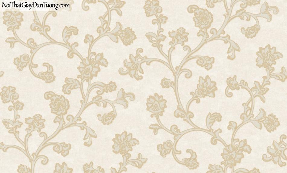 Giấy dán tường Hàn Quốc Hera H6052-1 - giấy dán tường hoa văn đẹp, hoa văn cổ điển phong cách Châu Âu