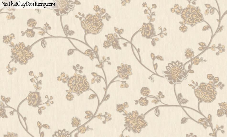 Giấy dán tường Hàn Quốc Hera H6055-3 - giấy dán tường hoa văn mà vàng, phong cách châu âu