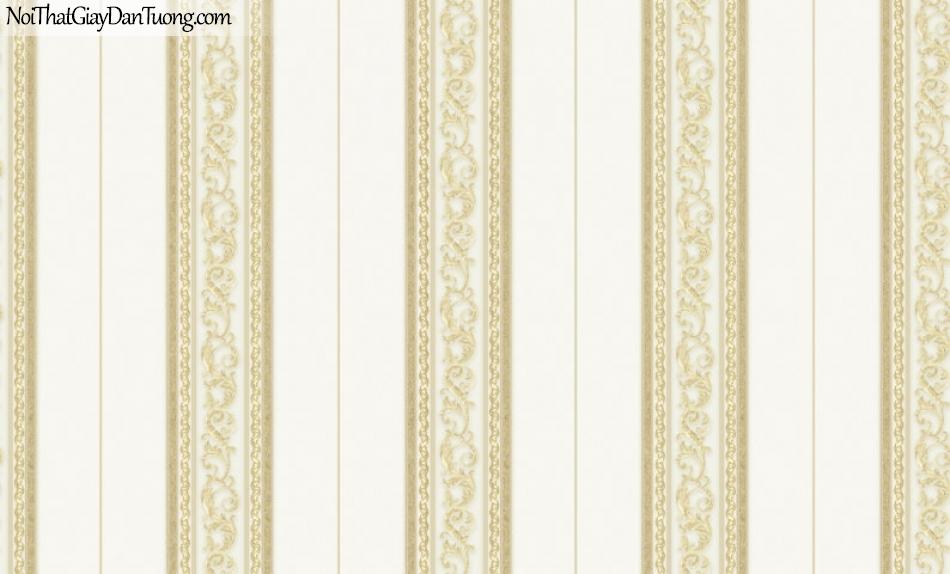 Brandnew, Giấy dán tường 8603-2 , Giấy dán tường ca rô sọc, vàng, họa tiết sang trọng