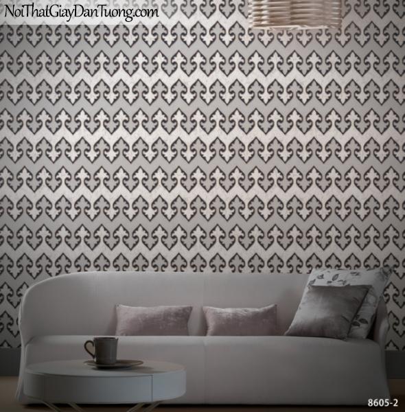 Brandnew, Giấy dán tường 8605-2, Giấy dán tường sọc ngang, màu đậm, chi tiết
