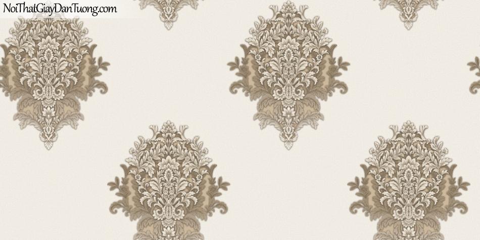 Brandnew, Giấy dán tường 8615-2, Giấy dán tường họa tiết hoa văn cổ điển, phong cách Châu Âu