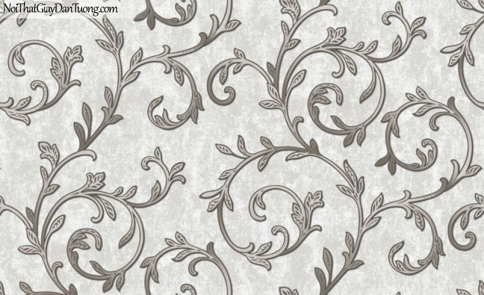 Art Noveau, Giấy dán tường Hàn Quốc 9357-1, giấy dán tường hoa văn màu nâu đất