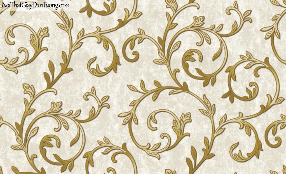 Art Noveau, Giấy dán tường Hàn Quốc 9357-2 ,giấy dán tường hoa văn màu vàng nâu