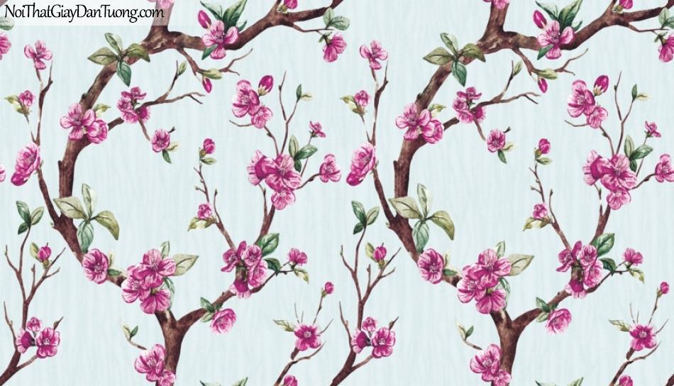 Art Noveau, Giấy dán tường Hàn Quốc 9360-1, giấy dán tường hoa đào