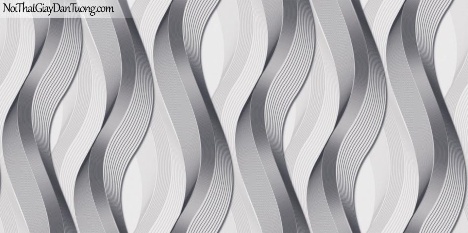 Art Noveau, Giấy dán tường Hàn Quốc 9377-4 giấy dán tướng hình xoắn đứng màu nâu xám