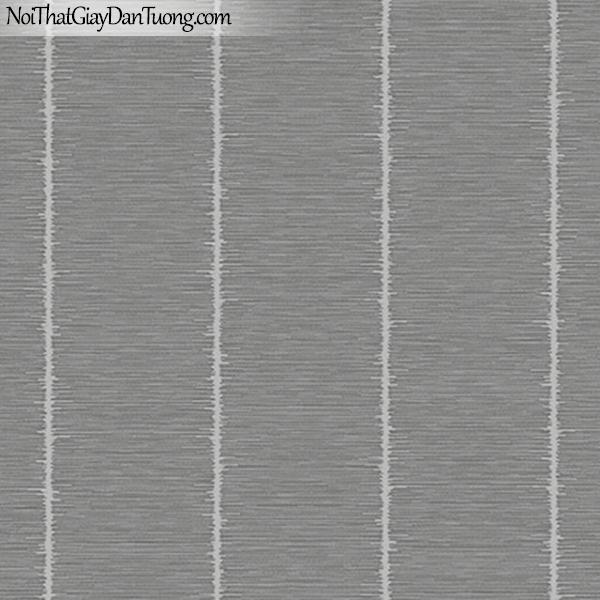J100, Giấy dán tường Hàn Quốc, J100 9373-4, giấy dán tường nền xám đậm sọc lớn