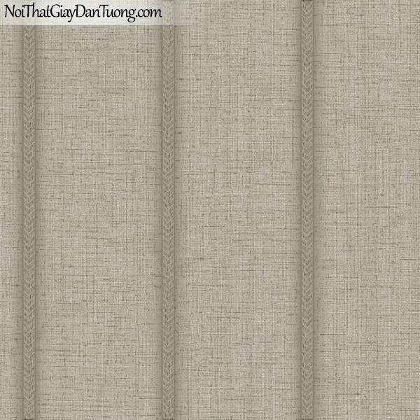 MIDA, Giấy dán tường Hàn Quốc, Giấy dán tường cổ điển M7018-2, giấy dán tường nền xám sọc lớn đứng