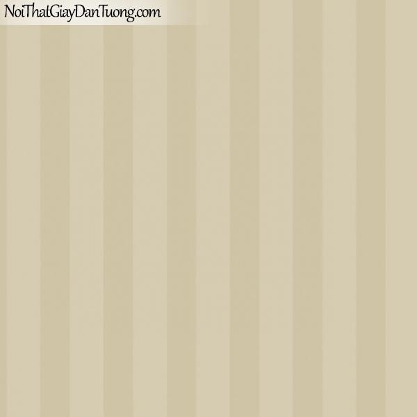 MIDA, Giấy dán tường Hàn Quốc, Giấy dán tường cổ điển M7031-2, giấy dán tường nền vàng nhẹ sọc đứng