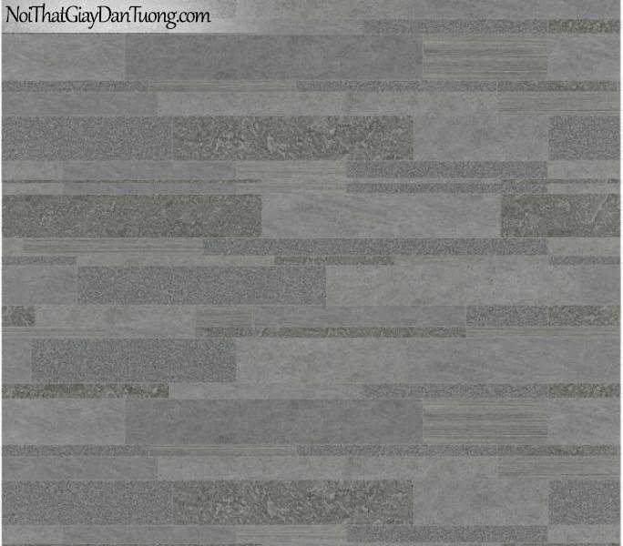3D, Giấy dán tường giả đá, giả đá màu trắng 3D 82425-2 g, giấy dán tường nền xám