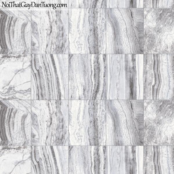 3D, Giấy dán tường giả đá, giả đá màu trắng 3D 83103-4 g, giấy dán tường nền trắng vân xám có nhiều ô vuông nối liền nhau