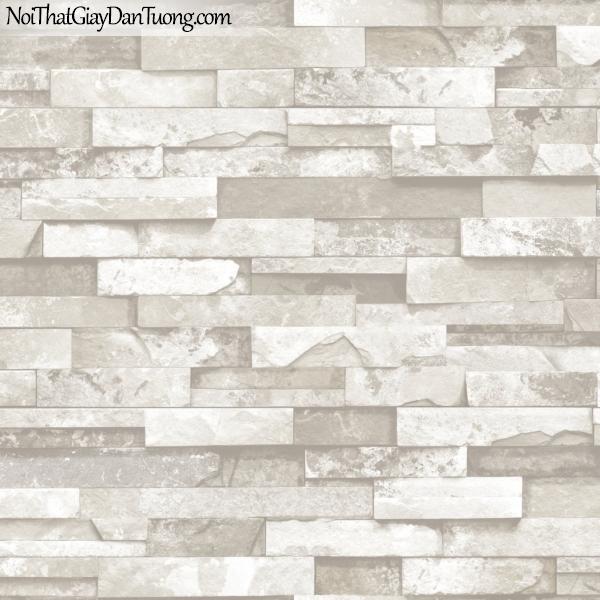 3D, Giấy dán tường giả đá, giả đá màu trắng 3D 85010-1 g, giấy dán tường giả đá màu trắng