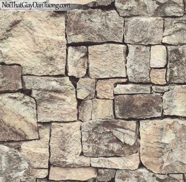 3D, Giấy dán tường giả đá, giả đá màu trắng 3D 85016-1 p, giấy dán tường giả đá nhiều màu