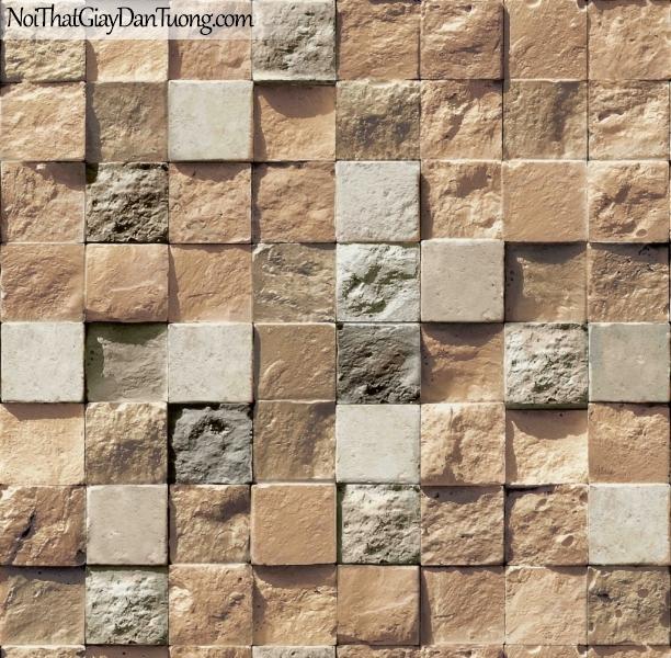 3D, Giấy dán tường giả đá, giả đá màu trắng 3D 85018-2 g, giấy dán tường giả đá ,nhiều màu sắc