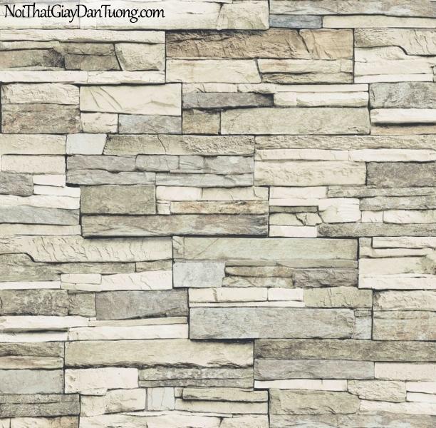 3D, Giấy dán tường giả đá, giả đá màu trắng 3D 85024-1 g, giấy dán tường giả đá màu xám trắng