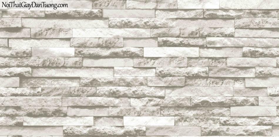 3D, Giấy dán tường giả đá, giả đá màu trắng 3D 85047-2 g, giấy dán tường nền xám trắng