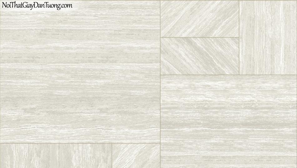 3D, Giấy dán tường giả đá, giả đá màu trắng 3D 85054-1 g, giấy dán tường nền xám có vân ,có sọc lớn ngang dọc