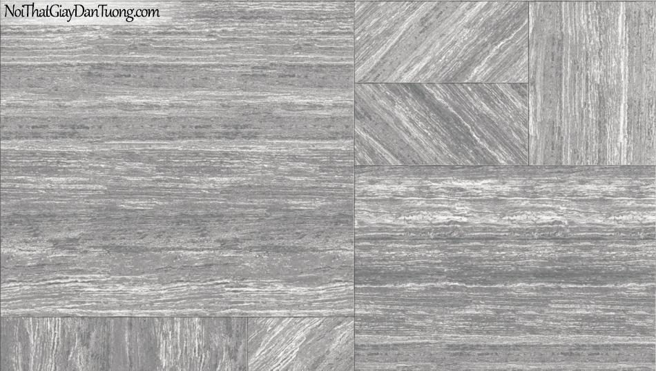 3D, Giấy dán tường giả đá, giả đá màu trắng 3D 85054-3 g, giấy dán tường giả đá có sọc ngang và đứng nối với nhau