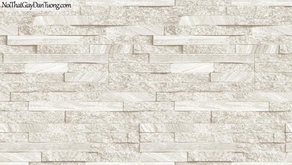 3D, Giấy dán tường giả đá, giả đá màu trắng 3D 85055-1 g, giấy dán tường nền trắng xám có sọc ngang và dọc