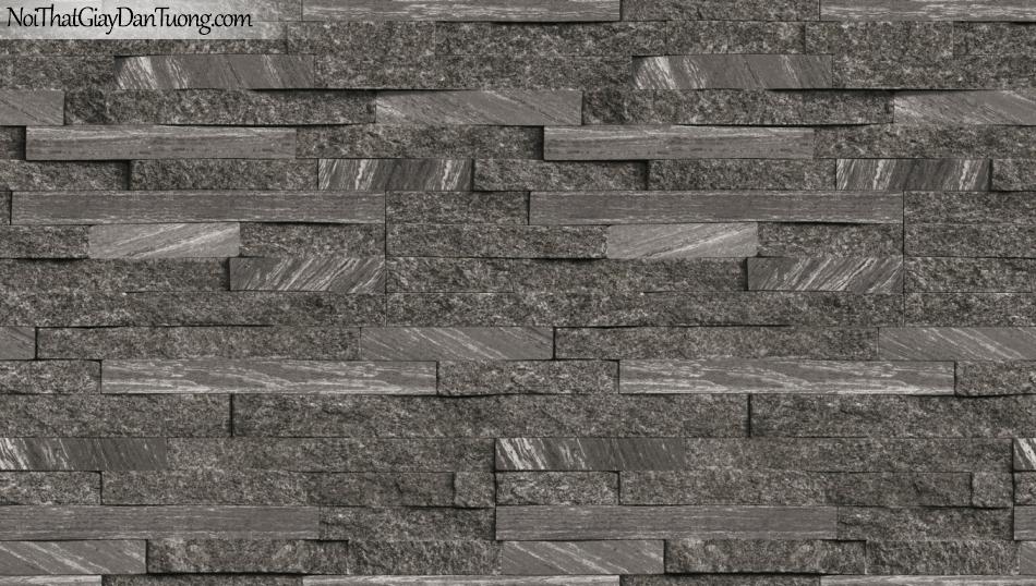 3D, Giấy dán tường giả đá, giả đá màu trắng 3D 85055-4 g,giấy dán tường màu xám đậm 3D