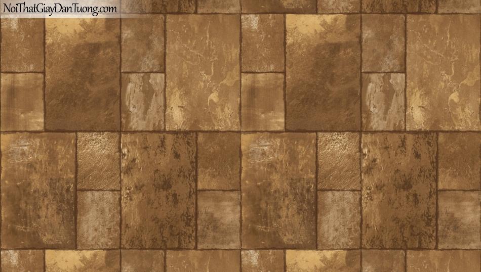 3D, Giấy dán tường giả đá, giả đá màu trắng 3D 85056-1 g, giấy dán tường giả đá màu vàng đồng