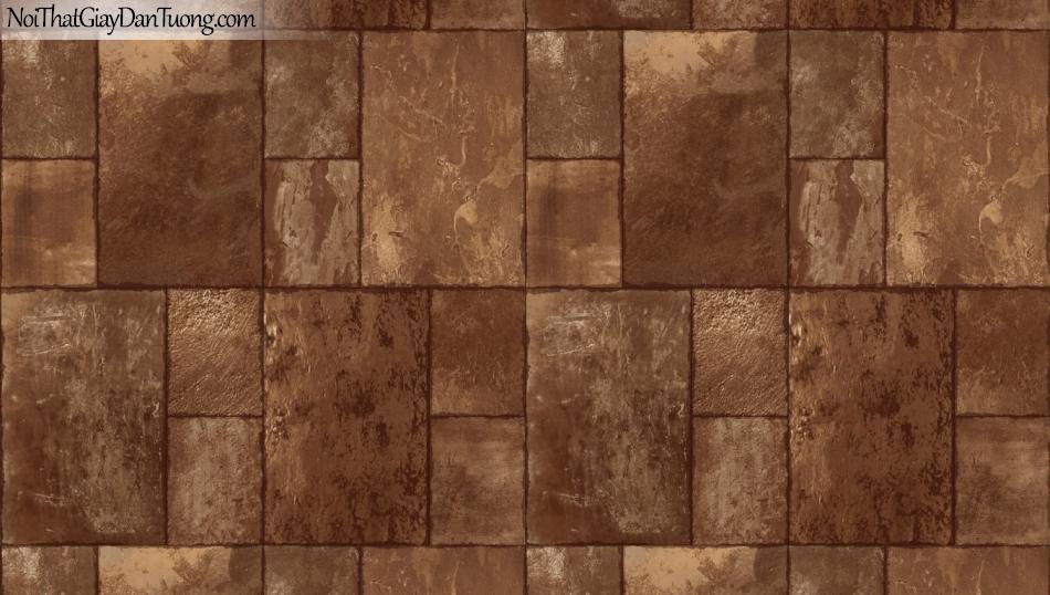 3D, Giấy dán tường giả đá, giả đá màu trắng 3D 85056-2 g, giấy dán tường nền vàng đồng đậm giả đá