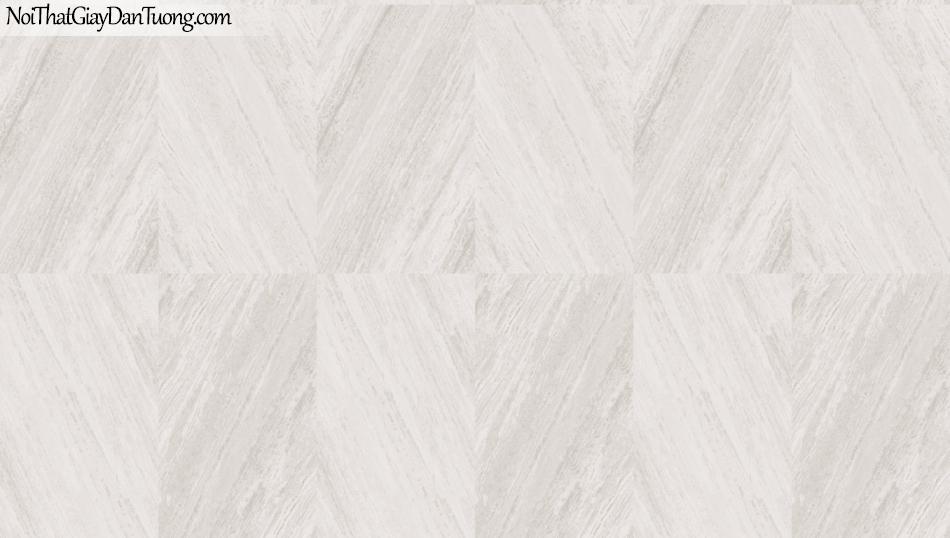 3D, Giấy dán tường giả đá, giả đá màu trắng 3D 85061-1 g, giấy dán tường nền trắng bạc ,có vân tạo ô vuông nối liền