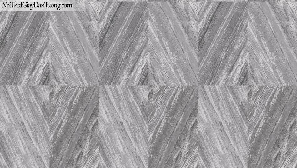 3D, Giấy dán tường giả đá, giả đá màu trắng 3D 85061-3 g, giấy dán tường nền xám có vân giả đá