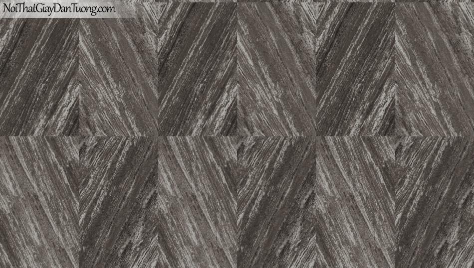 3D, Giấy dán tường giả đá, giả đá màu trắng 3D 85061-4 g, giấy dán tường nền xám đậm giả đá có vân