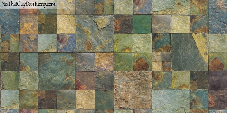 3D, Giấy dán tường giả đá, giả đá màu trắng 3D 87001-3 g, giấy dán tường giả đá nhiều màu sắc