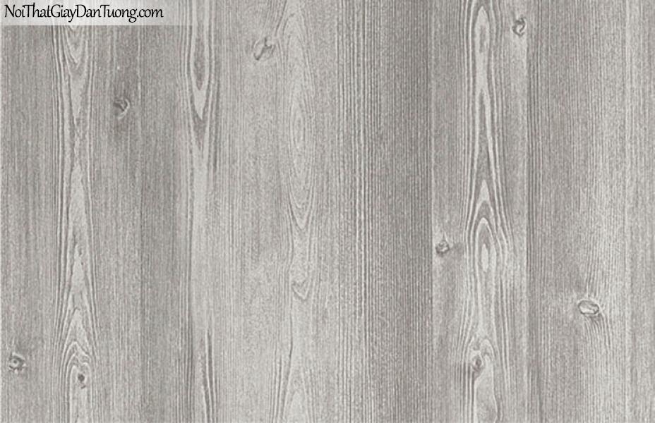 Giấy dán tường giả gỗ, màu trắng xám 7910-2 g
