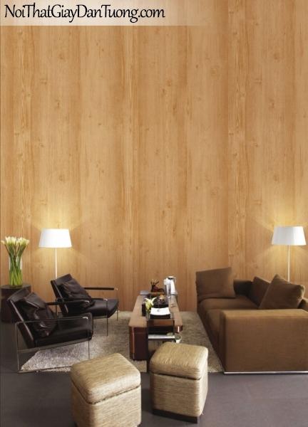 Giấy dán tường giả gỗ, màu vàng 7910-1 g