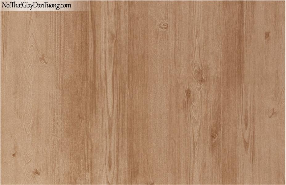 Giấy dán tường giả gỗ, màu vàng nâu 7910-3 g