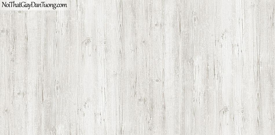 Giấy dán tường giả gỗ, màu xám trắng 54416-1 g