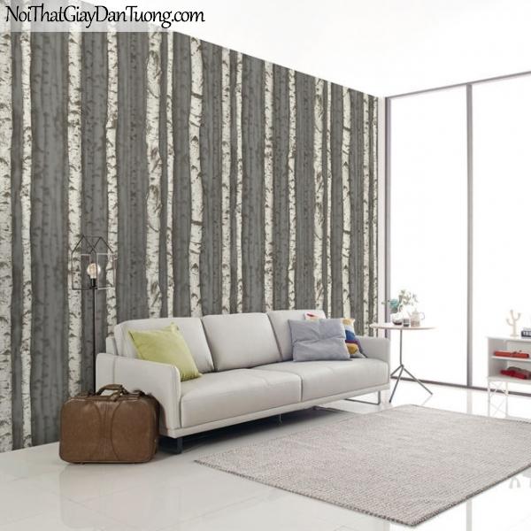 Giấy dán tường giả gỗ, những cây khô trền nền giấy giả gỗ, màu nâu xám 2632-3 gp PC