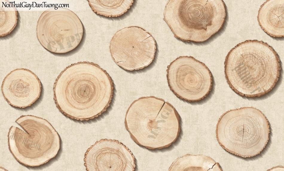 Giấy dán tường giả gỗ, những miếng gỗ trên nền giấy giả gỗ, màu vàng đất 2642-1 g