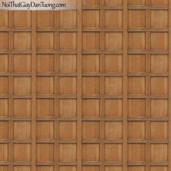 Giấy dán tường giả gỗ, những thanh gỗ nhỏ đan xen vào nhau, ô vuông, màu vàng 82958-2 g