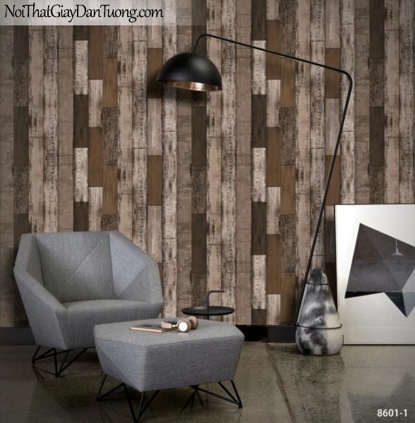 Giấy dán tường giả gỗ, những thanh gỗ nhỏ xếp chồng đứng cạnh vào nhau 8601-1 g
