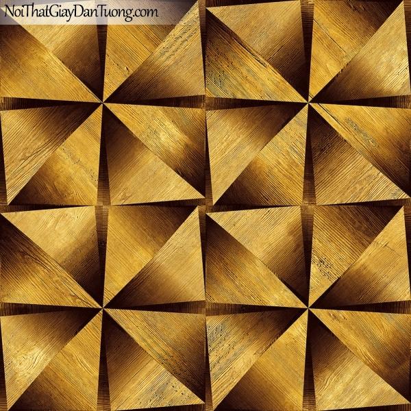 Giấy dán tường giả gỗ, những thanh gỗ tam giác, màu vàng nâu 13121 g
