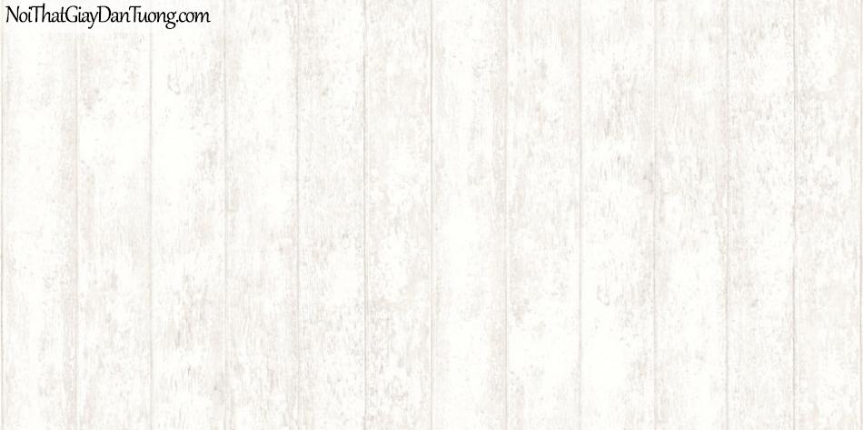 Giấy dán tường giả gỗ, những thanh gỗ xếp cạnh nhau, màu trắng 56093-1 g