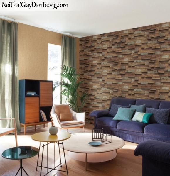 Giấy dán tường giả gỗ, những thanh gỗ nhỏ xếp cạnh nhau, màu vàng 83116-2 g PC