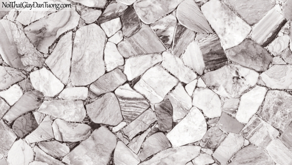 3D, Giấy dán tường giả đá, giả đá màu trắng 3D 87028-1 g, giấy dán tường nền trắng xám