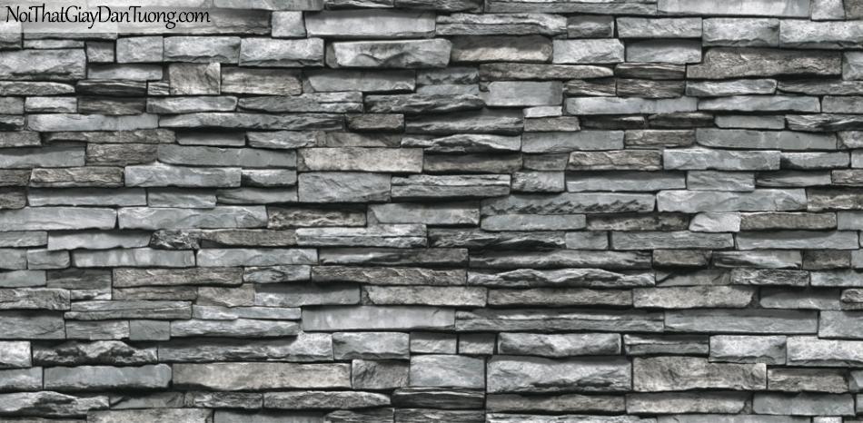 3D, Giấy dán tường giả đá, giả đá màu trắng 3D 87030-2 g, giấy dán tường màu xám