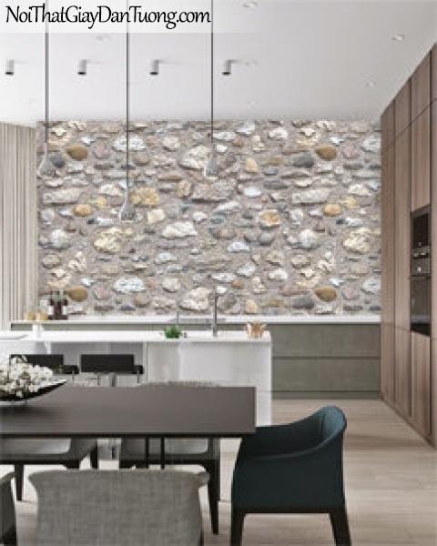 3D, Giấy dán tường giả đá, giả đá màu trắng 3D 87031-1 g pc, giấy dán tường phối cảnh giả đá