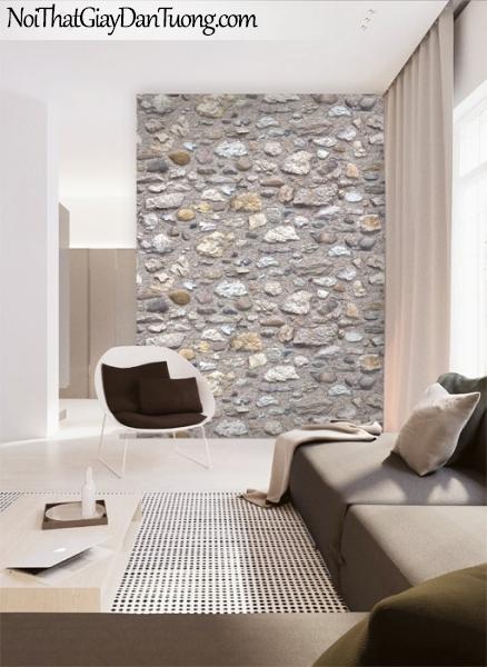 3D, Giấy dán tường giả đá, giả đá màu trắng 3D 87031-2 g pc, giấy dán tường phối cảnh