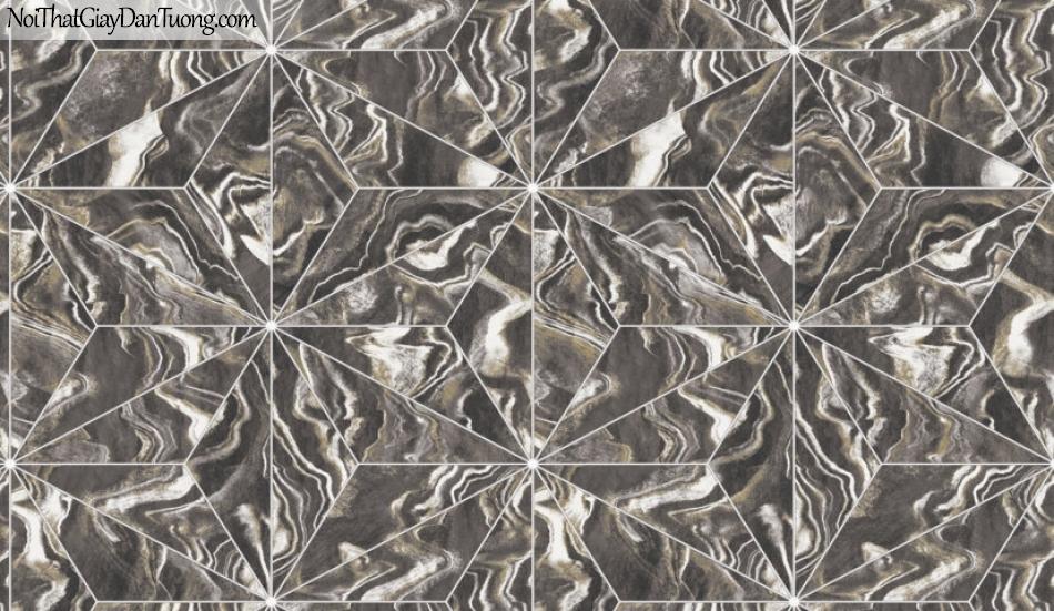 3D, Giấy dán tường giả đá, giả đá màu trắng 3D 88220-3 g, giấy dán tường giả đá nền xám