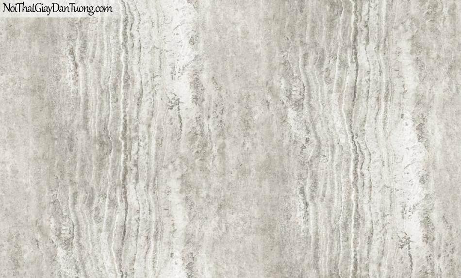 3D, Giấy dán tường giả đá, giả đá màu trắng 3D H6047-1 g, giấy dán tường nền trắng có vân